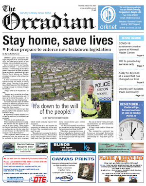 The Orcadian Newspaper (weekly every Thursday)